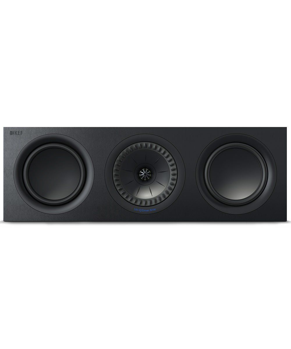 KEF Q650c Center Channel Speaker in Black Front