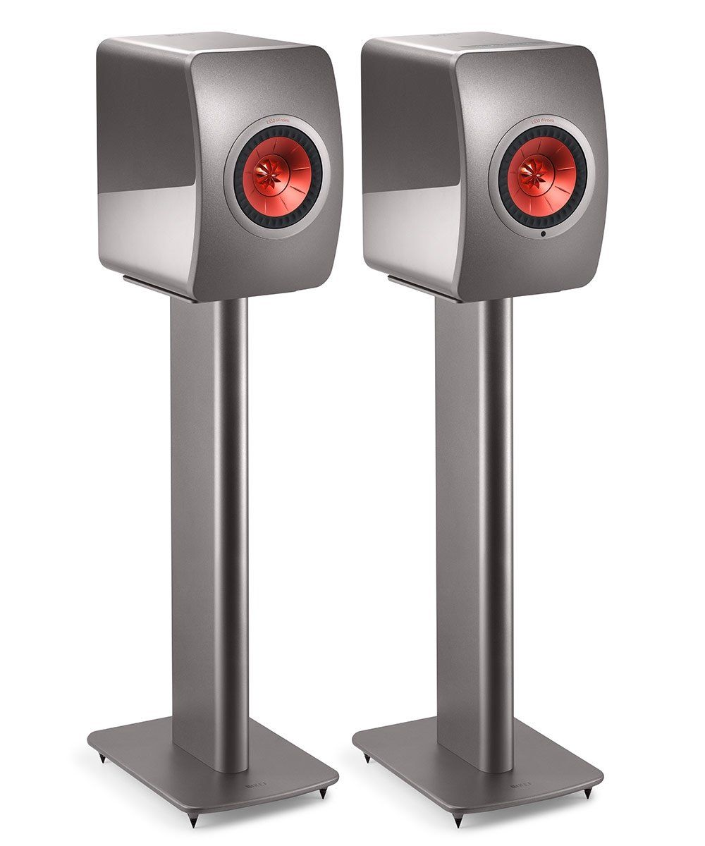 KEF Performance Speaker Stand Pair Grey Front