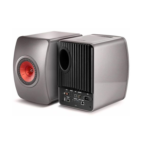 LS50 Wireless Powered Music System Front and Back